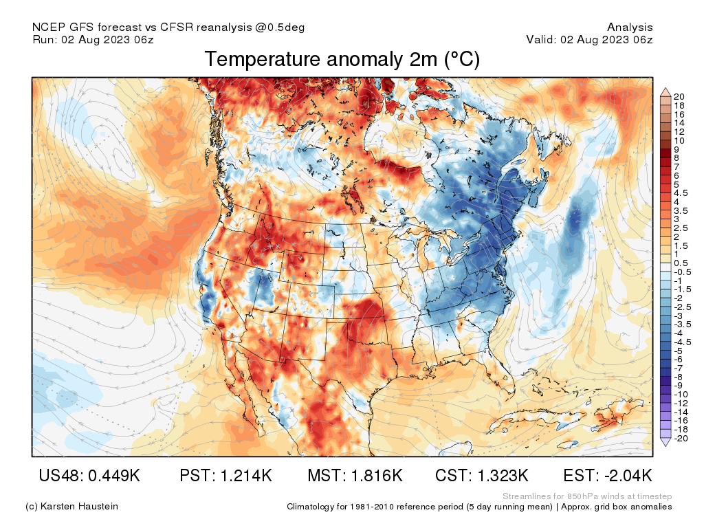 Current Temperature Map southwest seat map