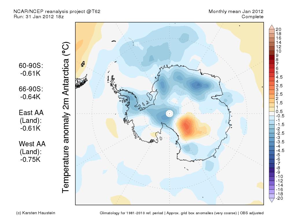 GFS 2m temperature anomaly